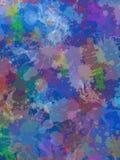 Błękitnawy tło z farba kapinosami w różnym kolorze i plamami Zdjęcie Royalty Free
