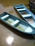 Błękitne łodzie Obraz Royalty Free