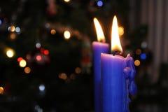 błękitne świece Obraz Royalty Free