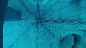 Błękitne abstrakcjonistyczne cząsteczki zdjęcie wideo