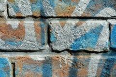 Błękitne cegły w Wenecja, tło fotografia stock
