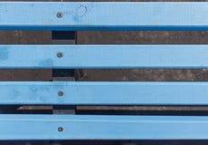 Błękitne drewniane deski z śrubami Zdjęcia Royalty Free