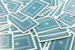 Błękitne facedown karty Obraz Royalty Free