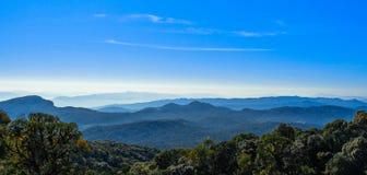 Błękitne grani inthanon parka Appalachian gór warstwy obrazy royalty free