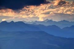Błękitne granie Venediger i Villgraten grupy, Wysoki Tauern Zdjęcie Royalty Free