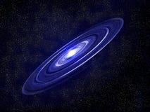 Błękitne gwiazdy i galaxy interliniujemy tło Fotografia Royalty Free