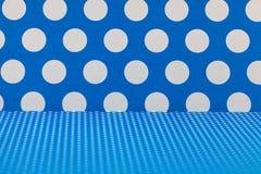 Błękitne i białe polek kropki Fotografia Royalty Free