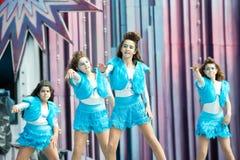 Błękitne karnawał suknie zdjęcia royalty free