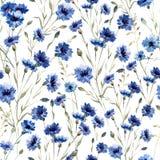 błękitne kwiaty royalty ilustracja