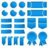 Błękitne metki, majchery, sztandary Zdjęcie Royalty Free
