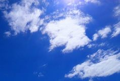 błękitne niebo Zdjęcie Stock