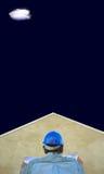 błękitne niebo dach budowniczych planów Obraz Royalty Free