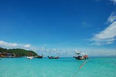 błękitne niebo na plaży Fotografia Stock
