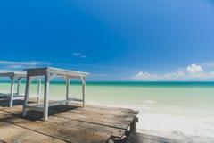 błękitne niebo na plaży Zdjęcie Royalty Free