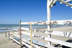 błękitne niebo na plaży Zdjęcie Stock
