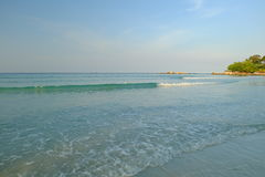 błękitne niebo na plaży Obraz Stock