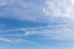 błękitne niebo tła Zdjęcia Royalty Free