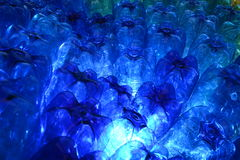 Błękitne plast butelki Fotografia Stock