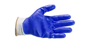Błękitne prac rękawiczki odizolowywać Zdjęcia Royalty Free