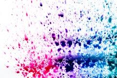 błękitne purpury, rozmyty punkt akwareli farba Tło royalty ilustracja