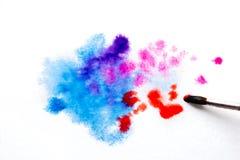błękitne purpury, rozmyty punkt akwareli farba Tło ilustracja wektor