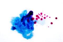 błękitne purpury, rozmyty punkt akwareli farba Tło ilustracji