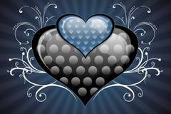 błękitne serce Zdjęcia Royalty Free
