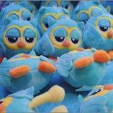 Błękitne sowy Zdjęcia Royalty Free