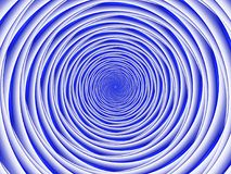 Błękitne spirale, fractal obraz royalty free