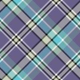 Błękitne szarość barwią czek szkockiej kraty tkaniny bezszwową teksturę Fotografia Stock