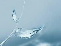 Błękitne Wody cień i liście Zdjęcia Royalty Free