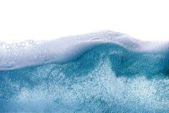 Błękitne wody falowy abstrakcjonistyczny tło odizolowywający Fotografia Stock