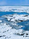 Błękitne wody i biały boraks Zdjęcia Royalty Free