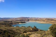 Błękitne wody jezioro w Andalucia Zdjęcia Stock