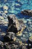 Błękitne Wody Macha teksturę Obraz Royalty Free