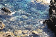 Błękitne Wody Macha teksturę Obrazy Stock