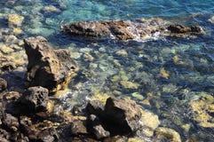 Błękitne Wody Macha teksturę Zdjęcie Royalty Free
