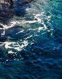 Błękitne Wody Macha teksturę Fotografia Stock