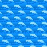 Błękitne wody macha z pluśnięciami bezszwowa wektorowa tekstura lub wzór ilustracja wektor