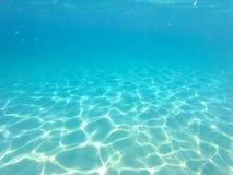 Błękitne wody pod morzem Zdjęcie Royalty Free