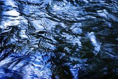 Błękitne wody powierzchnia z fala Obrazy Stock