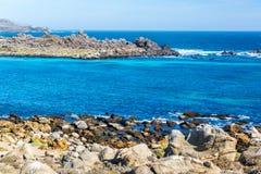 Błękitne Wody przy Damas wyspą Obrazy Royalty Free