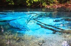 Błękitne wody w basenie. Obrazy Royalty Free