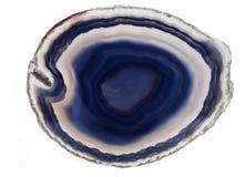 Błękitnego agata chalcedonu geological kryształ Fotografia Stock