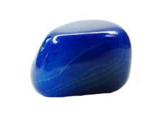 Błękitnego agata geological kopalny kryształ Fotografia Stock