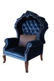 Błękitnego antykwarskiego krzesła retro stylowy ludwik zdjęcia stock