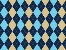 Błękitnego beżowego białego argyle bezszwowy wzór Obraz Royalty Free