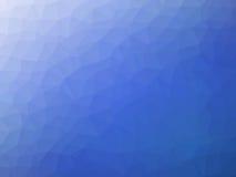 Błękitnego białego gradientowego abstrakcjonistycznego wieloboka kształtny tło Fotografia Royalty Free