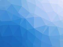Błękitnego białego gradientowego abstrakcjonistycznego wieloboka kształtny tło Obrazy Royalty Free