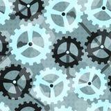 Błękitnego cogwheel bezszwowy wzór Zdjęcie Stock
